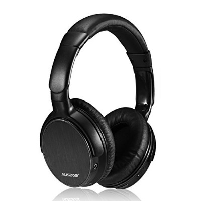 Ausdom Lightweight Stereo Wired Wireless Headset Bluetooth 4.0 EDR Over Ear Audiophile Headphones, Deep Bass with Microphone and Volume Control for...