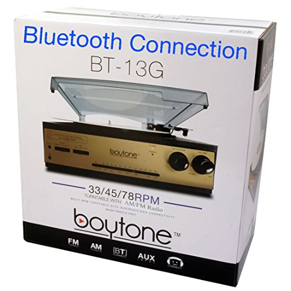 Boytone Bt 13g With Bluetooth Connection 3 Speed Stereo