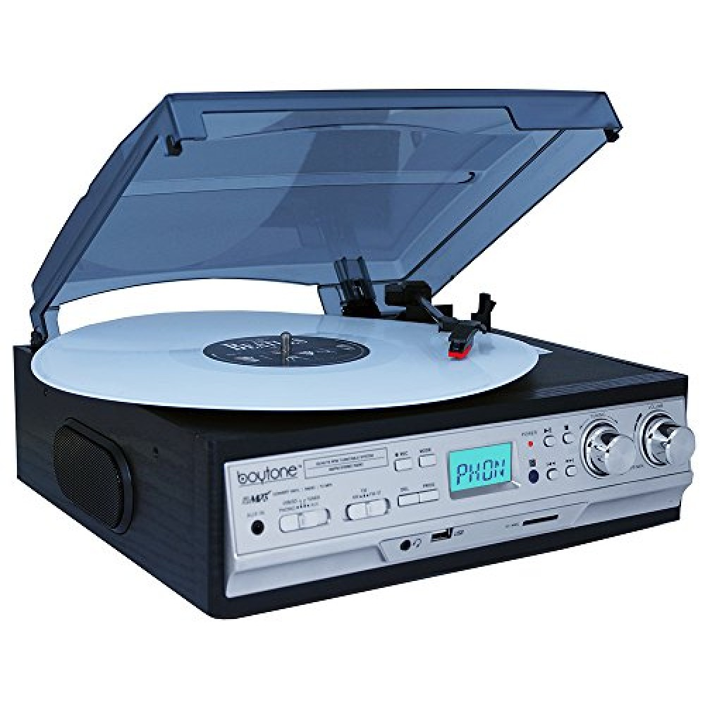 Boytone Bt 17djb 3 Speed Stereo Turntable 2 Built In