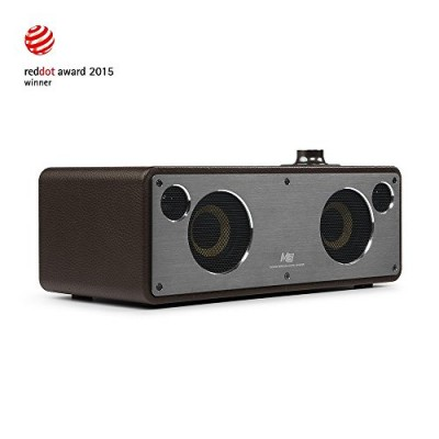 GGMM M3 Retro Wi-Fi Bluetooth Wireless Leather Speaker for Music Streaming | Featuring Powerful 40W Audio Driver, Enhanced Bass, Multi-Room Play, A...