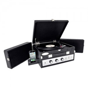 Pyle PLTT82BTBK Vintage Retro Classic Style Bluetooth Turntable Record Player with Vinyl-To-MP3 Recording