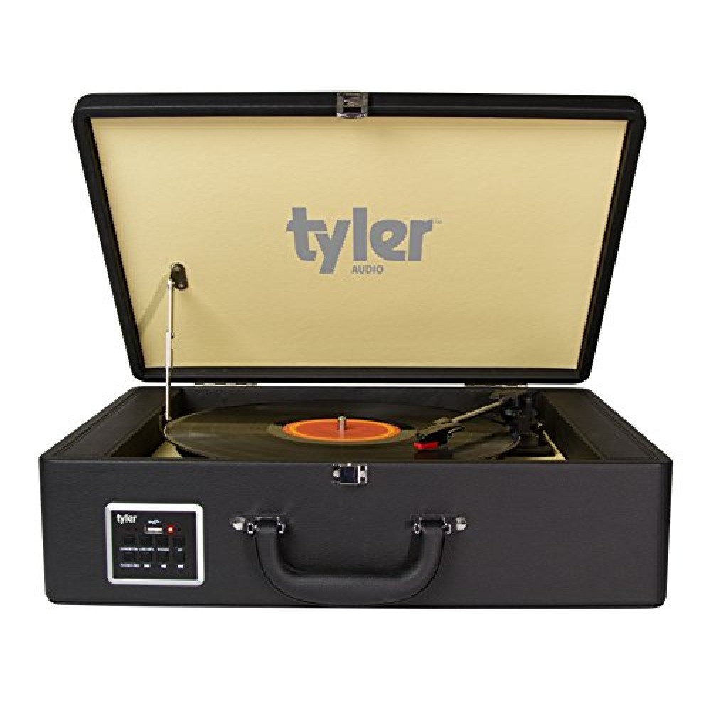 Tyler Bluetooth Briefcase Vinyl Record Player Classic